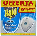 Raid Night & Day Mosquito Triple Refill - contains a pack of 1 refill + 1 pack of 2 Refills