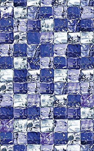 d-c-fix® 338-8038 - Pellicola aderente per vetro non adesiva, 67.5 cmx1,5m, motivo cubetti di ghiaccio