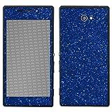 atFolix Sony Xperia M2 Skin FX-Glitter-Blue-Danube Designfolie Sticker - Reflektierende Glitzerfolie