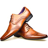 S & B Footwear Mens Leather Lined Smart Wedding Lace Up Brogues Formal Dress Oxford Shoes Size 6-12