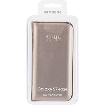 premium selection 4bc44 c92d8 Samsung EF-NG935PFEG Galaxy S7 Edge LED Display Flip View Case Cover - Gold