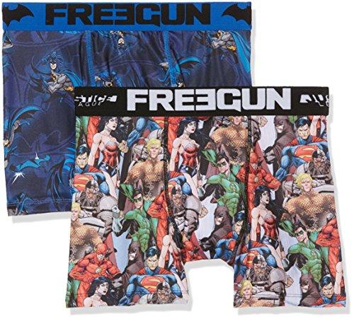 Freegun Justice League Herren Boxershorts Mehrfarbig (Multicolor A8)