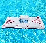 weiß 180 * 90cm PVC Sommer-Schwimmen-aufblasbares schwimmendes Bier-Tabellen-Reihen-Wasser-Bett...