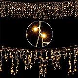 Deuba LED Regenkette 400 LEDs warmweiß Weihnachten Deko Beleuchtung | In- & Outdoor | Schutzklasse IP44 | Modellauswahl