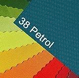 OXFORD 600D Farbe 38| PETROL Türkis Ocean Polyester Stoff
