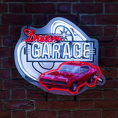 garage-muscle-car-mancave-pub-bar-office-red-and-white-gto-dream-car-garage-icon-neon-neonetics-real