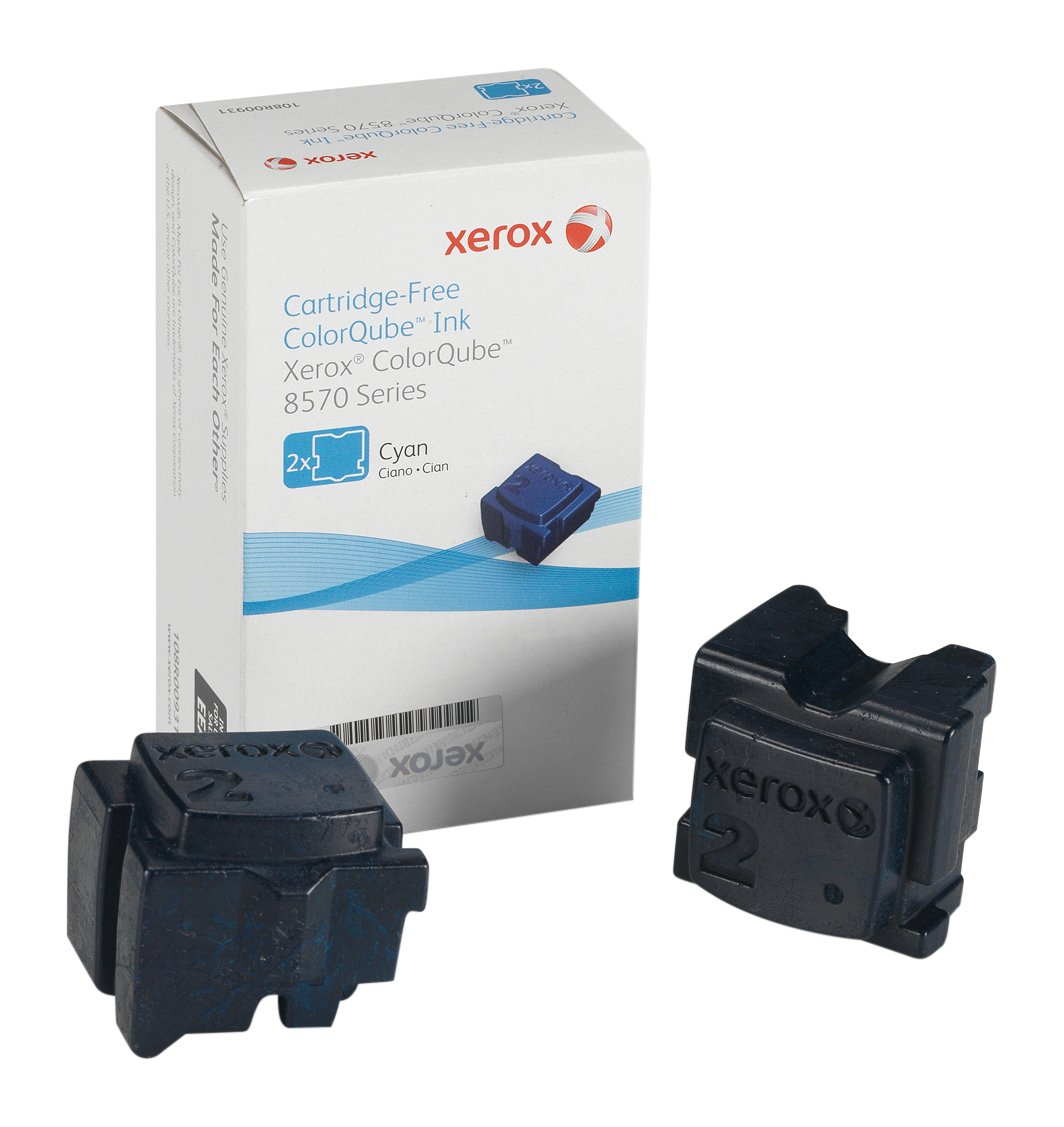 Xerox 108R00931 Colorqube 8570 Confezione 2 Stick Solid Ink, Ciano
