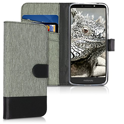 kwmobile Motorola Moto E5 Plus Hülle - Kunstleder Wallet Case für Motorola Moto E5 Plus mit Kartenfächern & Stand