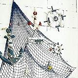 Welltobuy Rete da Pesca Decorazione da Parete in Stile mediterraneo con Conchiglie Rete da Pesca Decorativa per Oggetti d'arredo per la Fotografia Domestica