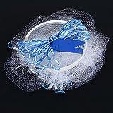 Rete da Pesca di Lancio della Mano Nylon Rete per Esche Pesci con Corda della Mano 2m e Anello Pesante