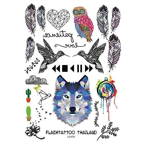 born-pretty-1-planche-tatouage-temporaire-impermeable-motif-loup-plume-oiseaux-tatouage-ephemere-sti