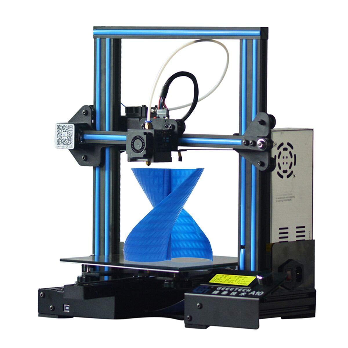 GEEETECH A10 imprimante 3D Assemblage rapide Aluminium Prusa I3 kit avec Une Taille d'impression de 220x220x260mm,Reprise du travail en cas de panne électrique, Carte Mère GT2560 OpenSource