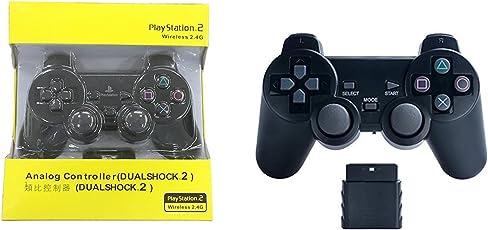Ekon Analog Controller For Playstation 2 Wireless 2.4G Controller - Black