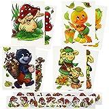 com-four® 10-teiliges Herbst Fensterbilder Set mit Verschiedenen Motiven [Auswahl variiert], Deko Fenstersticker, statisch haftende Fensterfolie (10-teilig - Herbst Motive)