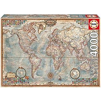 Educa borras puzzle map of the world 1500 pieces amazon educa 14827 the world executive map 4000 pieces genuine puzzle gumiabroncs Images