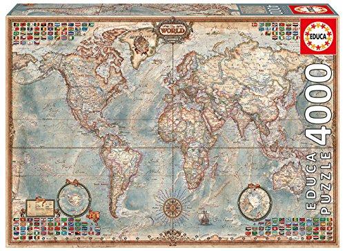 Educa 14827 - Puzzle - Historische Weltkarte, 4000-Teilig (3000 Weltkarte-puzzle)