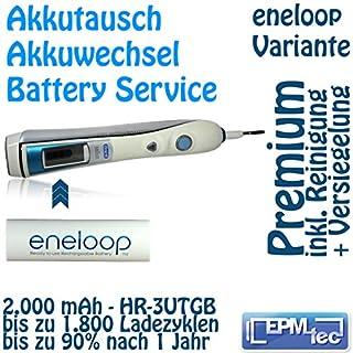 Eneloop Akkuwechsel für alle OralB Triumph 5000 9000 9500 9700 9900 - Batterie Battery Akku Replacement Service Oral-B Akkutausch auch für 5500, 6500, 6000, 7000, 8000, 8300, 8500, 8900, 9400 und Modellnummern 3731, 3738, 3762 und 3764 Premium 3UTGB Eneloop]
