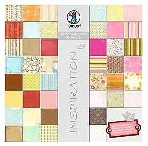 Ursus 70800099-Scrapbook Paper Bloque, Aprox. 30,5x 30,5cm, 44Hojas Surtidos en Motivos 44
