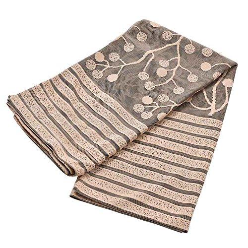 Laileya elegante foglia tulle porta tenda della finestra pannello di drape sheer sciarpa mantovane per living room