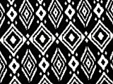 Geometrische Print Stretch Jersey Knit Kleid Stoff schwarz