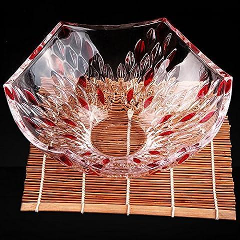 The Golden Apple La società di alta classe taglio italiano in vetro trasparente piatto di insalata//Food Bowl,Limited Edition Serveware , C