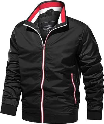 TACVASEN Men's Jackets Lightweight Bomber Windbreaker Varsity Jacket Full Zip Spring Fall Jacket