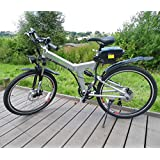 Fenetic Sport Folding Electric Mountain Bike E-bike with full suspension and throttle