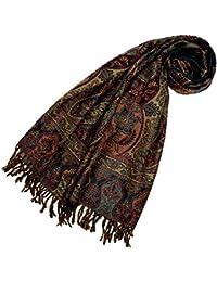 LORENZO CANA - Luxus Pashmina Schal Schaltuch aus weicher Wolle Paisley Muster bunt mehrfarbig 70 x 190 cm Wollschal Wolltuch Stola Umschlagtuch