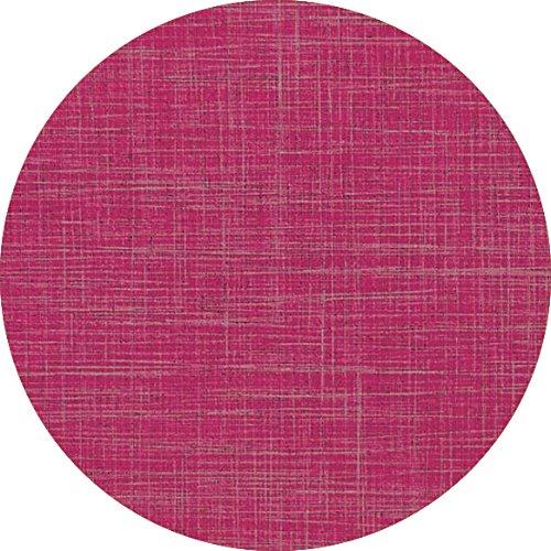 DecoHomeTextil d-c-Fix Wachstuch Leinen Look Rund Oval Farbe & Größe Wählbar Rund 80 cm Pink abwaschbare Tischdecke (Türkis, Tischdecke Und Braun)
