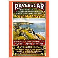 """North Eastern Railway - Ravenscar"" A4 Glossy Vintage Railway Poster Art Print"
