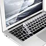 kwmobile Tastaturschutz Apple MacBook Air 13''/Pro Retina 13''/15'' (bis Mitte 2016) - QWERTZ Silikon Laptop Tastaturfolie - Notebook Tastaturschutzfolie Schwarz Grau