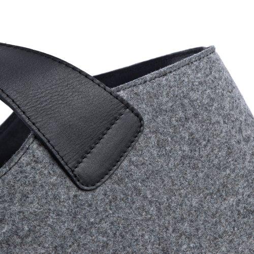 FEYNSINN Borsa da donna FREYA - borsa a mano XL - borsa grande vera pelle nero