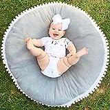 Fyore Kuschelige Hase Rund Krabbeldecke Gepolstert Spielmatte Groß Baumwolle Kinderteppich Babyzimmer Dekoration 90cm