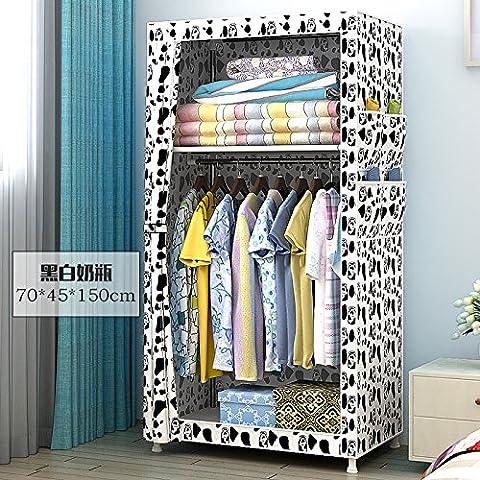 WJP modernos armarios simplificada de tela de refuerzo de bricolaje armario ropero W-10