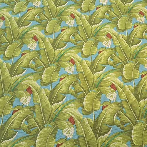 Werthers Nappe en Tissu au mètre en Coton Enduit Vert Bleu Banane Feuille Feuille Feuille Feuille Toile Lavable