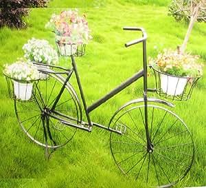 pflanzen deko metallfahrrad blumen fahrrad bj rn garten. Black Bedroom Furniture Sets. Home Design Ideas