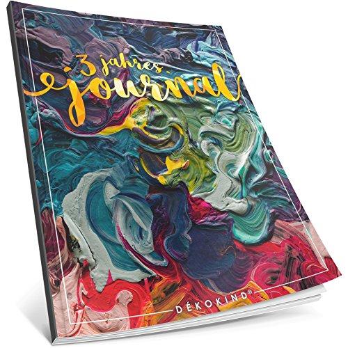 Dékokind® 3 Jahres Journal: Ca. A4-Format, 190+ Seiten, Vintage Softcover • Dicker Jahresplaner, Tagebuchkalender, Buchkalender, Tagesplaner • ArtNr. 35 Dicke Farbe • Ideal als Geschenk