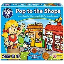 Orchard Toys - Un salto in negozio, versione internazionale (International Pop The Shops), Gioco da tavolo educativo, 5+ anni [Lingua inglese]