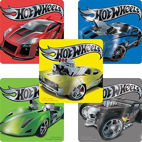 Hot Wheels Foil Stickers - Birthday Party Supplies & Favors - 50 per Pack by SmileMakers