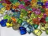 CRYSTAL KING 140 Stück 500g Große Bunte Deko Eis Diamanten 32mm Brillianten Strasssteine Acrylsteine basteln Dekosteine Gltzersteine Strass Steine Zum Verzieren Dekorieren
