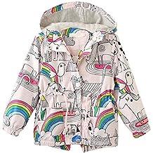 Abrigo Caliente Bebé, Internet Bebé Niña Impresión De Moda Botón Capa Chaquetas De los Niños Rainbow Cazadora Sudadera Con Capucha Caliente Abrigo De Manga larga