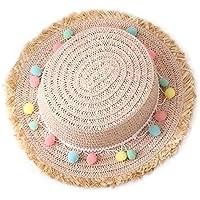 Leisial Sombreros de Paja de Sol Playa Gorra de Bola ala Ancho Protector  Visera de Verano cf125977c67