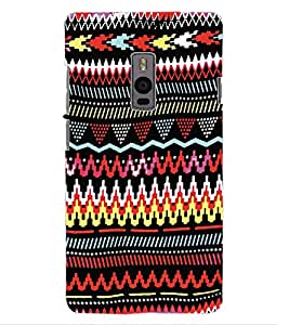 ColourCraft Tribal Pattern Design Back Case Cover for OnePlus Two