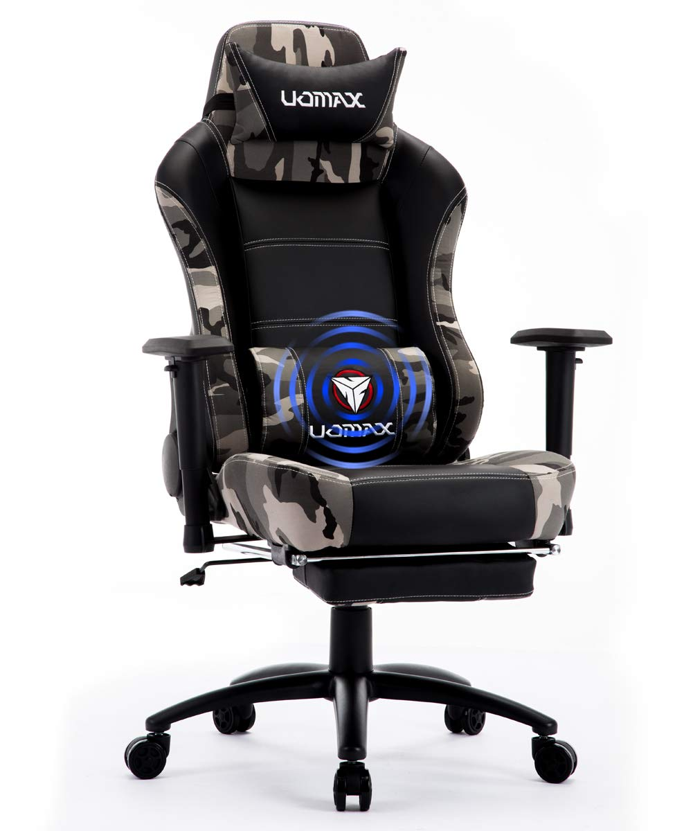 de PiedsCamo pour Gaming Confortable Repose Chaise Ordinateur UOMAX Ergonomique avec Fauteuil Support Massage Racer Lombaire Siege et Gamer ARL4j53q