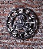 HAIBUHA Wanduhren Industrie Retro Style-Zahnrad-Taktgeber, Wand-Taktgeber-kreative Wand hängende Dekoration, (bar Wanduhr) Ultra Silent Home Dekorative Wandmontierte Uhr (Farbe : B1, größe : 49.5cm)
