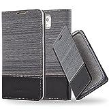 Cadorabo Custodia Libro per Samsung Galaxy Note 3 in Grigio Nero - con Vani di Carte, Funzione Stand e Chiusura Magnetica - Portafoglio Cover Case Wallet Book Etui Protezione
