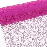 Spiderweb - Mesch - Tischläufer - Tischband - 30cm pink - Rolle 25m - 67 019-R 300