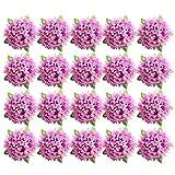 MagiDeal 20 Stück Blumen Köpfe Kunstblumen Blüten Gänseblümchen Künstliche Blumen Hausdeko Hochzeit Deko - Purpur Rosa, wie beschrieben
