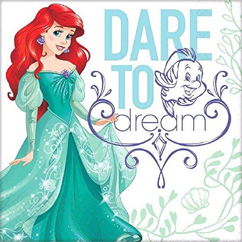 Preisvergleich Produktbild Disney Princess Arielle Servietten ,  16 Stück,  32x32 cm