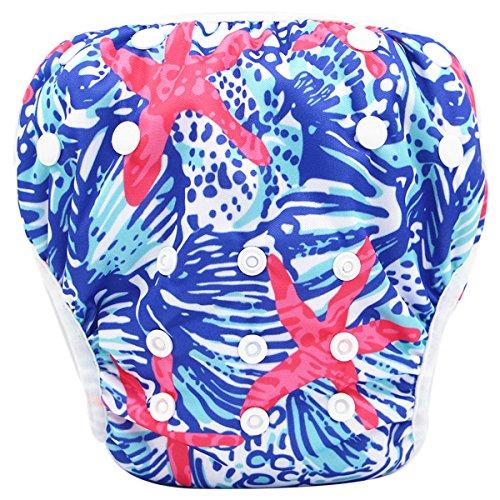 Storeofbaby Bébé couches de bain lavable réglable pantalon court pour piscine plage 0-3 ans